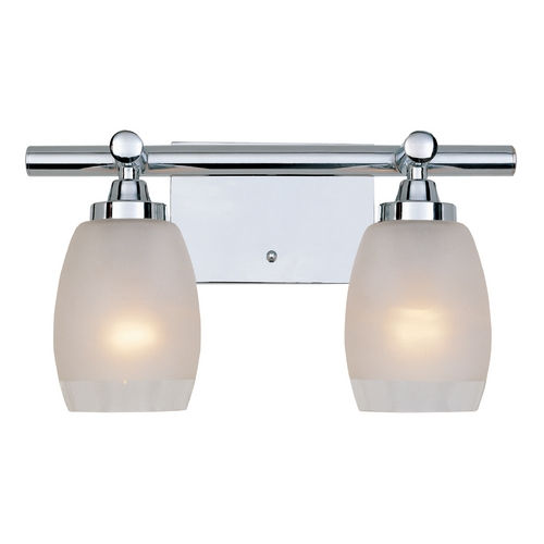 Designers Fountain Lighting Bathroom Light with White Glass in Chrome Finish 6452-CH