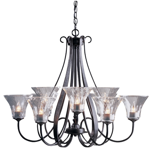 Hubbardton Forge Lighting Nine-Light Chandelier 101458-07-L22