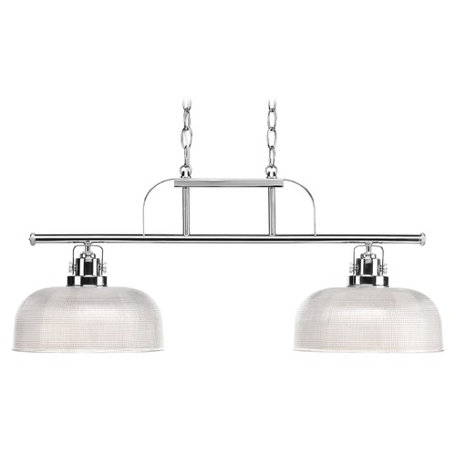 Progress Lighting Island Light with Clear Glass in Polished Chrome Finish P4624-15