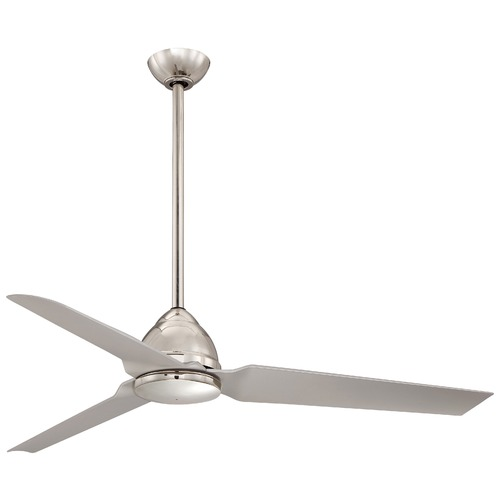 Minka Aire Minka Aire Java Polished Nickel Ceiling Fan Without Light F753-PN