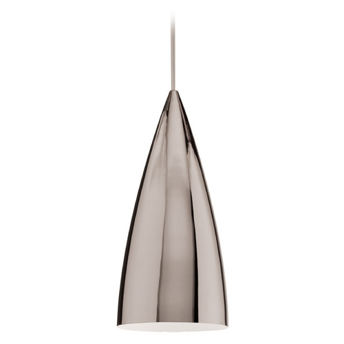 WAC Lighting WAC Lighting Industrial Collection Chrome Mini-Pendant with Conical Shade MP-966-CH/CH