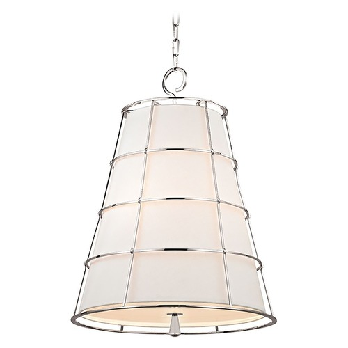 Hudson Valley Lighting Hudson Valley Lighting Savona Polished Nickel Pendant Light with Empire Shade 9820-PN
