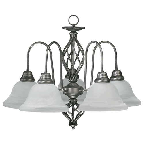 Quorum Lighting Quorum Lighting Antique Silver Chandelier 6454-5-92
