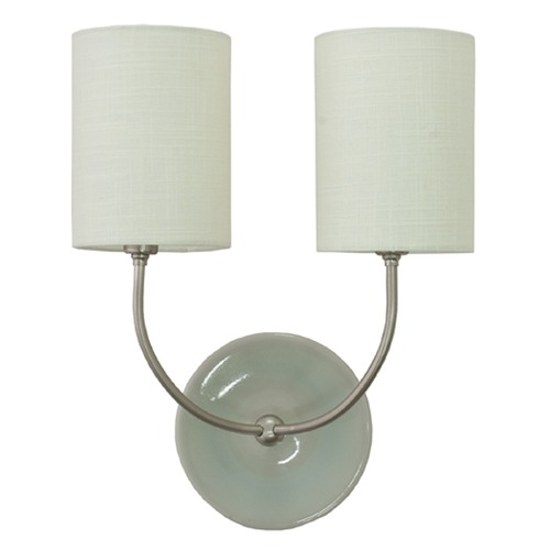 House of Troy Lighting House Of Troy Scatchard Gray Gloss Wall Lamp GS775-2-SNGG