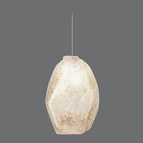 Fine Art Lamps Fine Art Lamps Natural Inspirations Gold-Toned Silver Leaf Mini-Pendant Light 852240-28ST