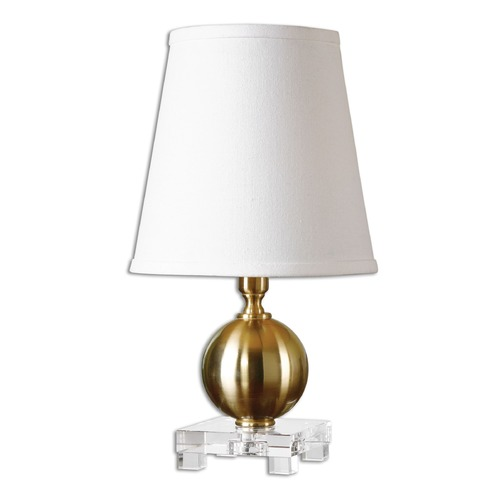 Uttermost Lighting Uttermost Laton Mini Brushed Brass Table Lamp 29984-1