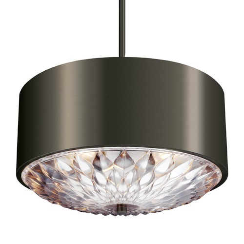 Feiss Lighting Feiss Lighting Botanic Aged Pewter Pendant Light with Drum Shade F3033/4AGP