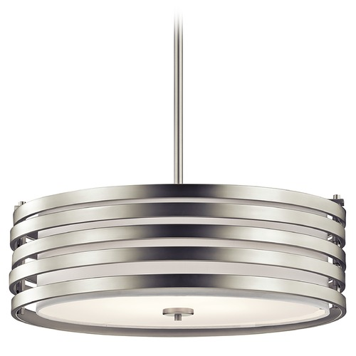 Kichler Lighting Kichler Lighting Roswell Pendant Light with Drum Shade 43390NI