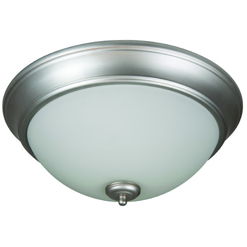 Craftmade Lighting Craftmade Pro Builder Flush Brushed Satin Nickel Flushmount Light XP13BN-2W