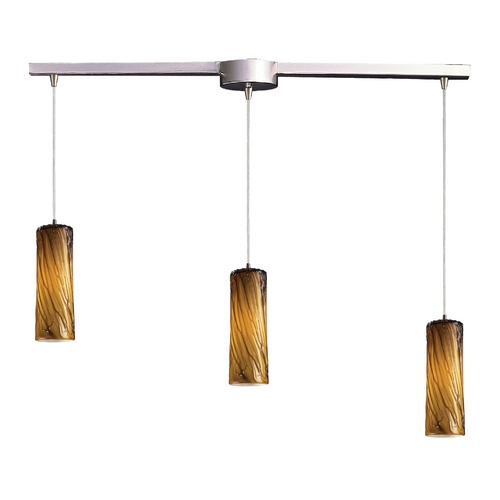 Elk Lighting Modern Multi-Light Pendant Light with Art Glass and 3-Lights 551-3L-MA