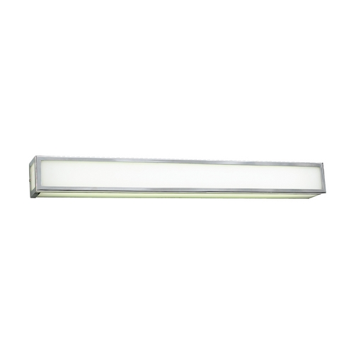 PLC Lighting Modern Bathroom Light with White Glass in Polished Chrome Finish 1034 PC