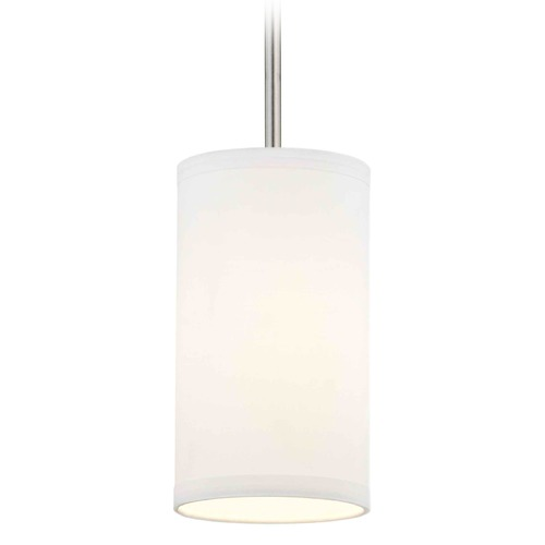 Design Classics Lighting Milo Satin Nickel Mini-Pendant Light with Cylindrical Shade DCL 6542-09 SH9672  KIT