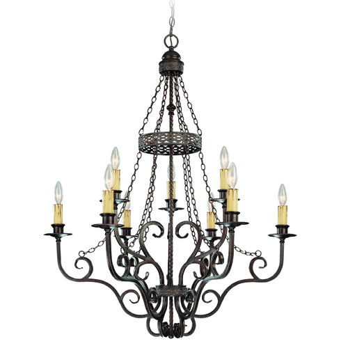 Jeremiah Lighting Jeremiah Brookshire Manor Burnished Armor Chandelier 23629-BA