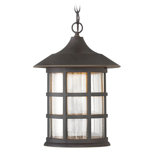 Hinkley Lighting LED Outdoor Hanging Light with Clear Glass in Oil Rubbed Bronze Finish 1802OZ-LED
