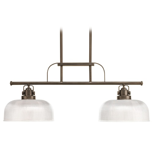 Progress Lighting Island Light with Clear Glass in Venetian Bronze Finish P4624-74