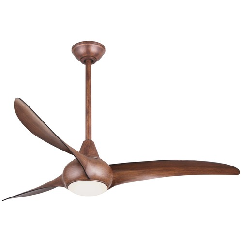 Minka Aire Minka Aire Fans Light Wave Distressed Koa LED Ceiling Fan with Light F844-DK