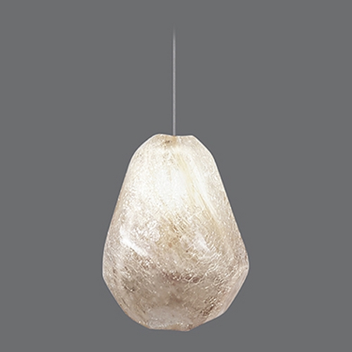 Fine Art Lamps Fine Art Lamps Natural Inspirations Gold-Toned Silver Leaf Mini-Pendant Light 852240-29ST