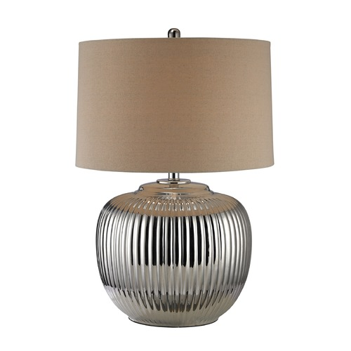 Dimond Lighting Dimond Lighting Silver Plating Table Lamp with Drum Shade D2640