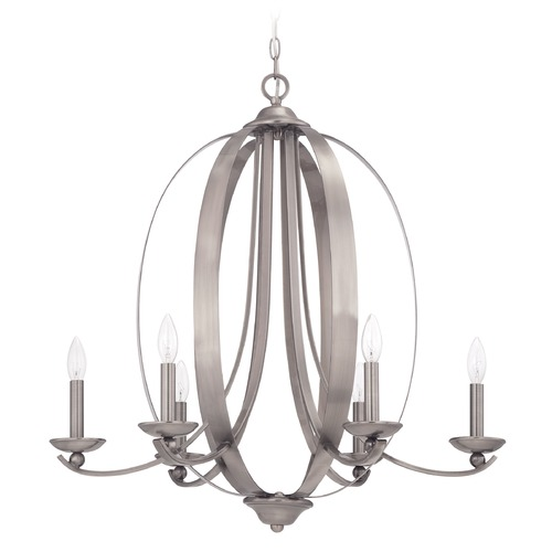 Jeremiah Lighting Jeremiah Lighting Ensley Antique Nickel Chandelier 37026-AN