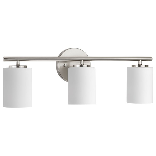 Progress Lighting Modern Bathroom Light Brushed Nickel Replay by Progress Lighting P2159-09