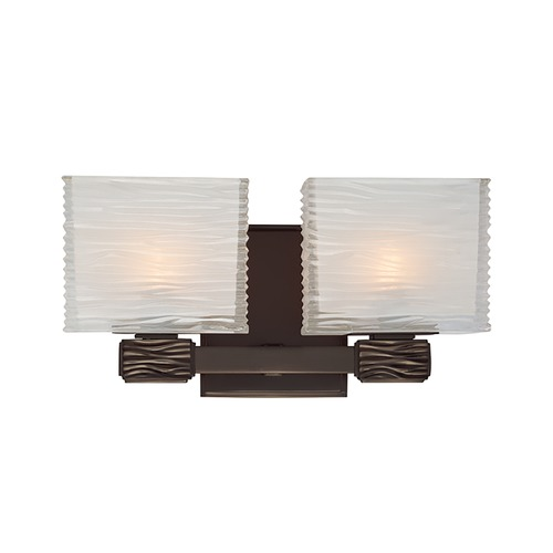 Hudson Valley Lighting Modern Bathroom Light with White Glass in Old Bronze Finish 4662-OB