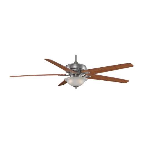 Fanimation Fans Ceiling Fan with Light with White Glass in Pewter Finish FPD8089PW