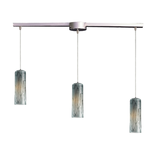 Elk Lighting Modern Multi-Light Pendant Light with Art Glass and 3-Lights 551-3L-MD