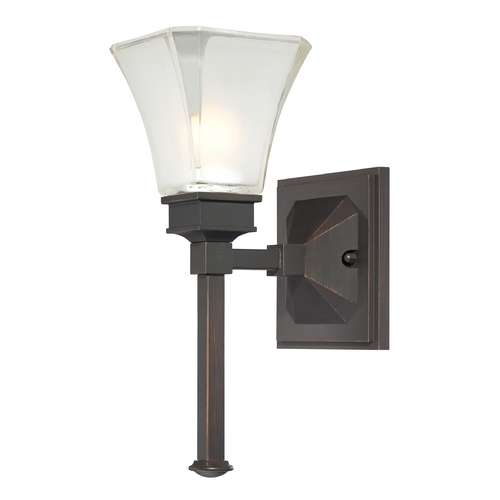 Designers Fountain Lighting Sconce Wall Light with White Glass in Biscayne Bronze Finish 6661-BBR