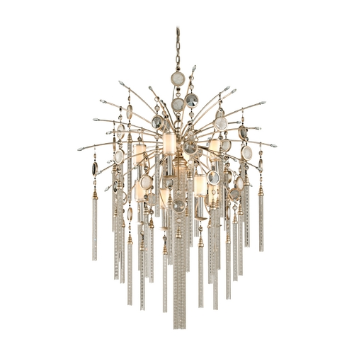 Corbett Lighting Corbett Lighting Bliss Topaz Leaf Island Light with Cylindrical Shade 162-49