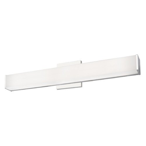 Kuzco Lighting Modern Chrome LED Bathroom Light with White Shade 3000K 1615LM VL62224-CH