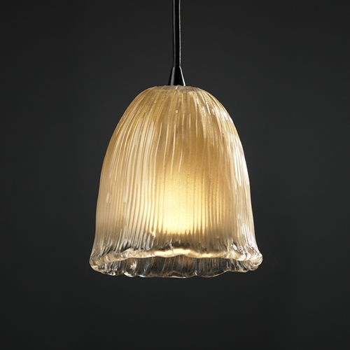 Justice Design Group Justice Design Group Veneto Luce Collection Mini-Pendant Light GLA-8815-56-GLDC-DBRZ