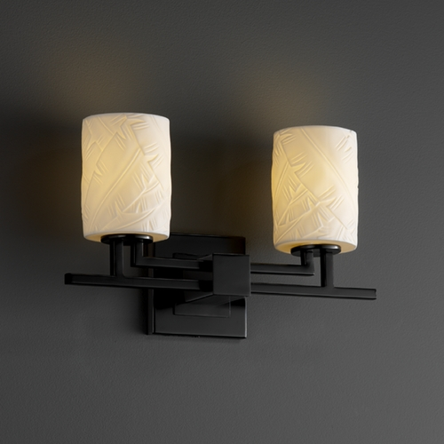 Justice Design Group Justice Design Group Limoges Collection Bathroom Light POR-8702-10-BANL-MBLK