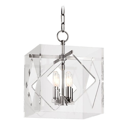 Hudson Valley Lighting Hudson Valley Lighting Travis Polished Nickel Pendant Light with Square Shade 5912-PN