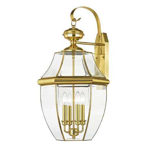 Livex Lighting Livex Lighting Monterey Polished Brass Outdoor Wall Light 2356-02