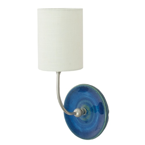 House of Troy Lighting House of Troy Scatchard Blue Gloss Wall Lamp GS775-SNBG