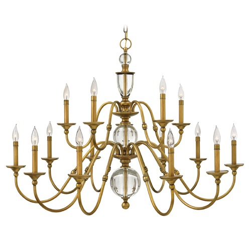 Hinkley Lighting Hinkley Lighting Eleanor Heritage Brass Chandelier 4959HB