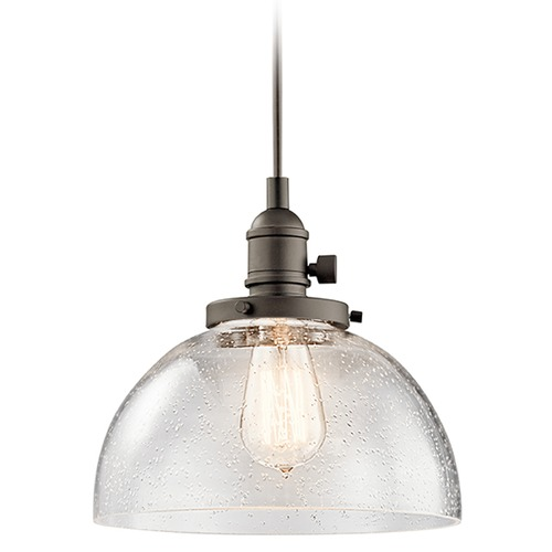 Kichler Lighting Kichler Lighting Avery Mini-Pendant Light with Bowl / Dome Shade 43853OZ