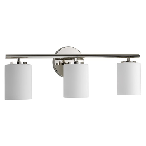 Progress Lighting Modern Bathroom Light Polished Nickel Replay by Progress Lighting P2159-104