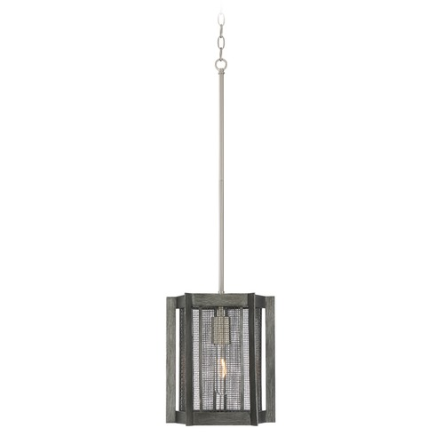 Designers Fountain Lighting Designers Fountain Baxter Weathered Iron Pendant Light with Cylindrical Shade 89330-WI