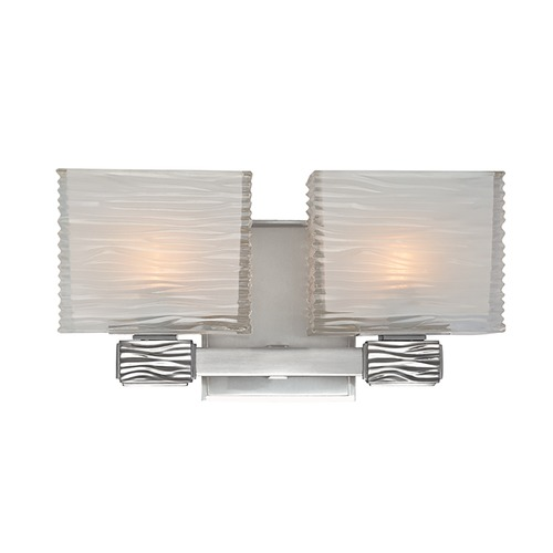 Hudson Valley Lighting Modern Bathroom Light with White Glass in Polished Nickel Finish 4662-PN