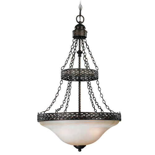 Jeremiah Lighting Jeremiah Brookshire Manor Burnished Armor Pendant Light with Bowl / Dome Shade 23633-BA