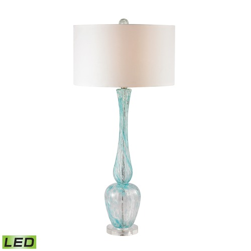 Dimond Lighting Dimond Lighting Light Blue LED Table Lamp with Drum Shade D2662-LED