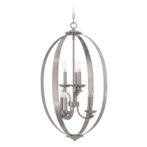 Jeremiah Lighting Jeremiah Lighting Ensley Antique Nickel Pendant Light 37036-AN