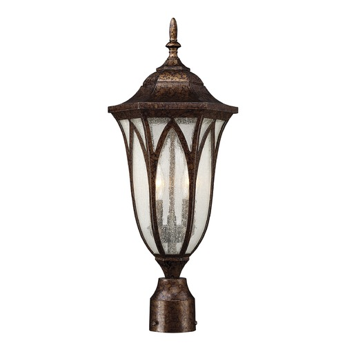 Savoy House Seeded Glass Post Light Bronze Savoy House 5-1243-56