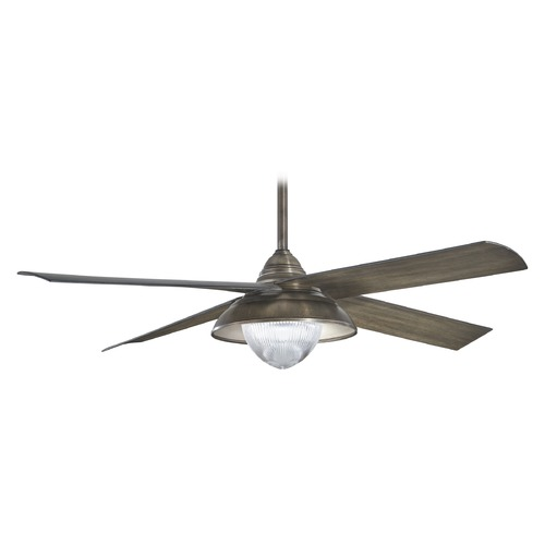 Minka Aire 56-Inch Minka Aire Shade Heirloom Bronze LED Ceiling Fan with Light F683L-HBZ