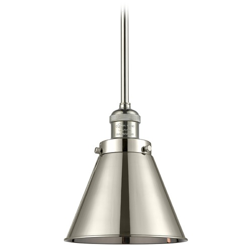 Innovations Lighting Innovations Lighting Appalachian Polished Nickel Mini-Pendant Light with Conical Shade 201S-PN-M13-PN