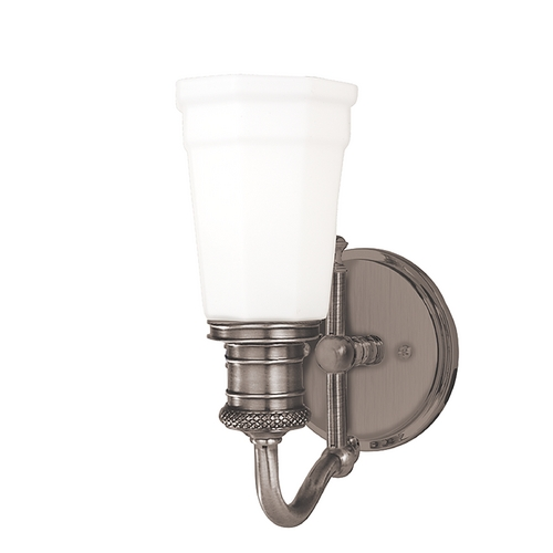 Hudson Valley Lighting Sconce with White Glass in Antique Nickel Finish 2501-AN
