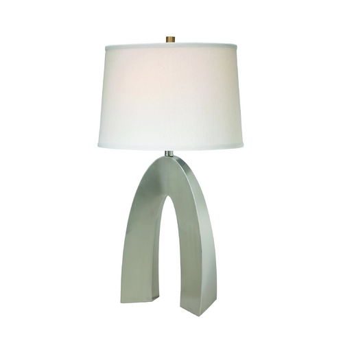 Lite Source Lighting Lite Source Lighting Forster Polished Steel Table Lamp with Drum Shade LS-21931PS/WHT