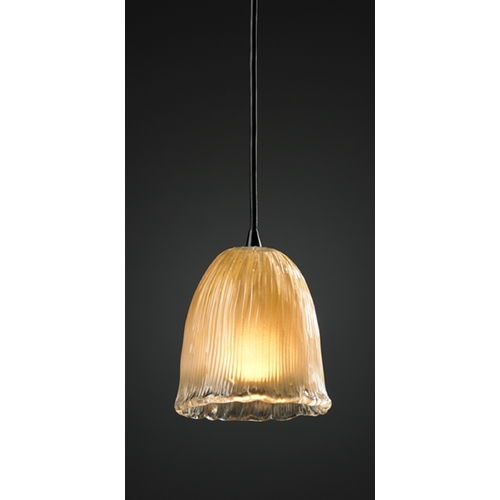 Justice Design Group Justice Design Group Veneto Luce Collection Mini-Pendant Light GLA-8815-56-GLDC-MBLK