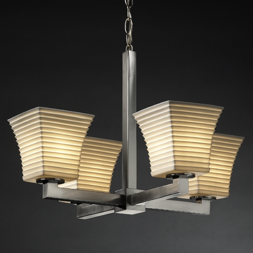 Justice Design Group Justice Design Group Limoges Collection Chandelier POR-8829-40-SAWT-NCKL